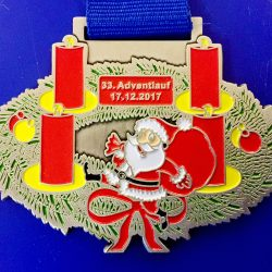 Adventlauf 2017 Medaille
