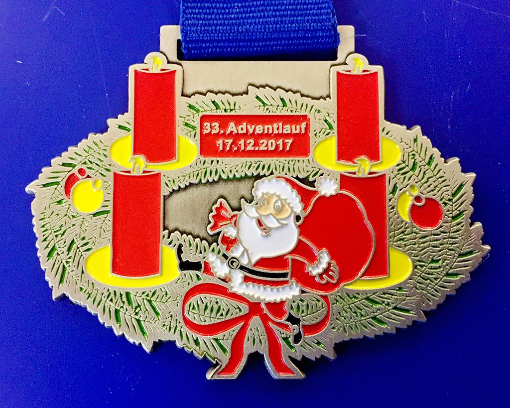 Adventlauf 2017 Medaille
