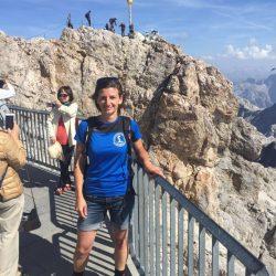Karola auf der Zugspitze