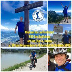 Michael in den Alpen