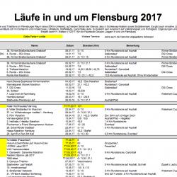 Läufe in und um Flensburg