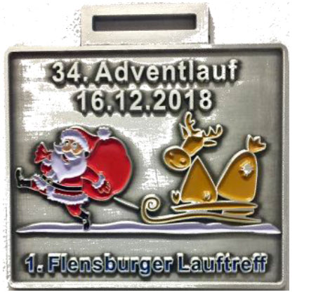 Adventlauf Medallie