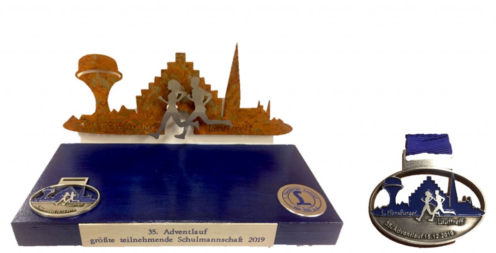 Pokal und Medaille 2019