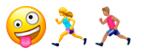 icons: crazy, läuferin, läufer